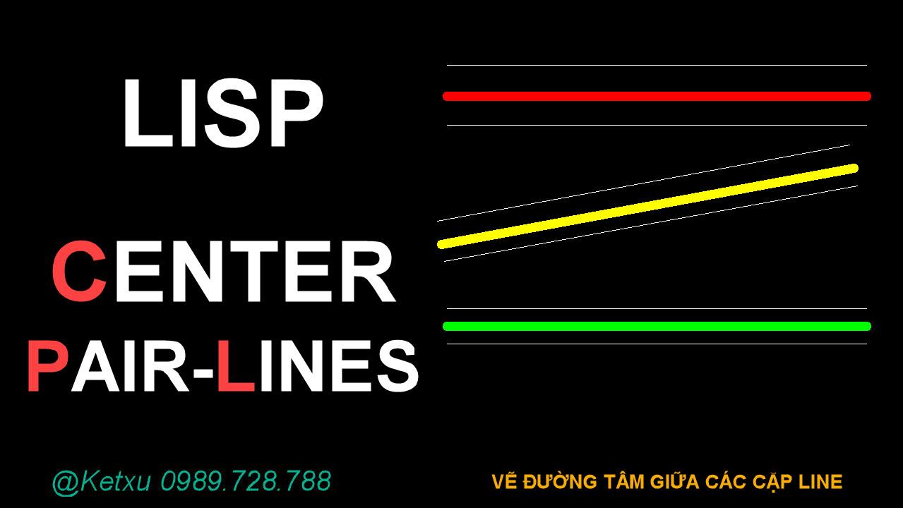 Draw Center Pair-Line - Vẽ đoạn giữa nhiều cặp Line song song